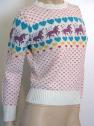 hearts and unicorns sweaters