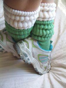 layered slouch socks