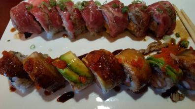 Steak and Eel Sushi. Yum!