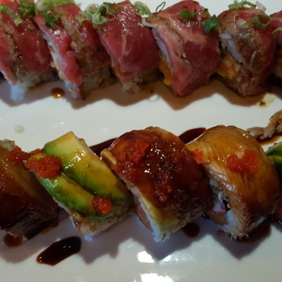 Steak and Eel Sushi. Yum!